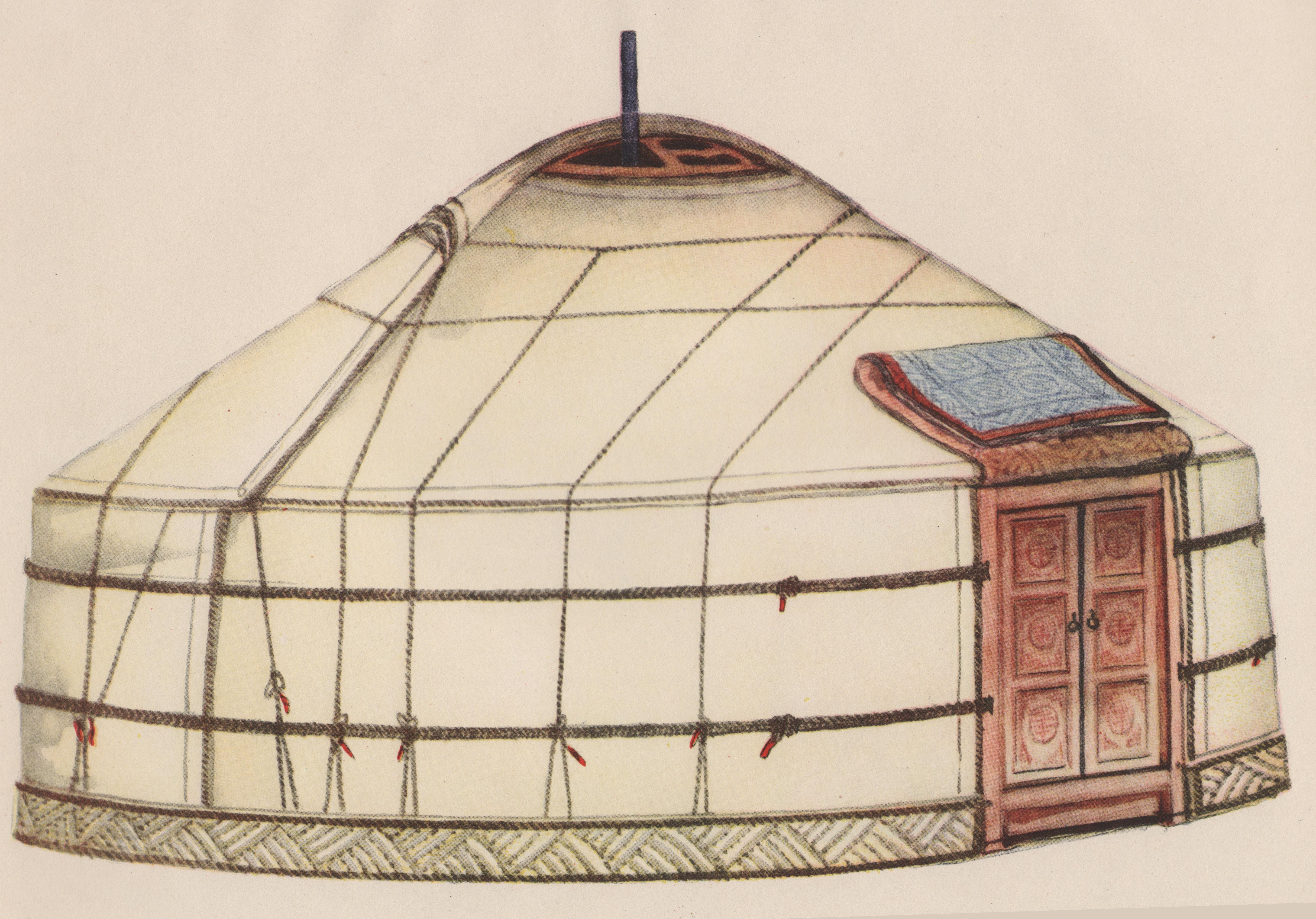 Как из картона сделать крышу юрты
